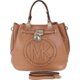 Eustaceyty Hand bag -  Michael Kors Logo Large Tan Sa