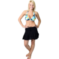 Alki'i - Plain Ruffled Mini Skirt Black - Skirts - $11.99