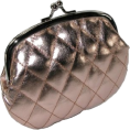 Mundi - Quilted Lux Framed Coin Purse Rose Gold - Clutch bags - &#36;3.77 