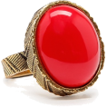 Viktoria Jurica Rings -  Read Bead Ring Rings Red