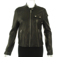 Tommy Hilfiger Jacket - coats -  Tommy Hilfiger Leather Zip Closure Jacket Black