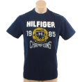 Tommy Hilfiger Majice - kratke -  Tommy Hilfiger Mens Regular Fit Short Sleve T-Shirt Navy blue
