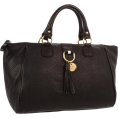Tommy Hilfiger Torbe -  Tommy Hilfiger Tasseled Pebble East-West Satchel Black