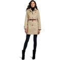 Tommy Hilfiger Jacket - coats -  Tommy Hilfiger Women's Marlo Water Resistant Fall Rain Trench Coat Sand