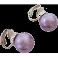ABISTE(アビステ) - マジョルカパール12mm玉イヤリング/パープル - Earrings - ¥3,570  ~ $36.32