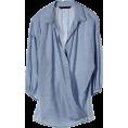 DEUXIEME CLASSE(ドゥーズィエム) - マルティニーク[martinique] 【再入荷】テンセルコットンシャンブレーカシュクールシャツスカイブルー - Long sleeves shirts - ¥15,540  ~ $158.10