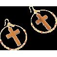 FREE'S MART(フリーズマート) - ウッドクロス×フープピアス - Earrings - ¥2,940  ~ $29.91