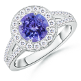 Angara Rings -  The Regal Ring Tanzanite Ring
