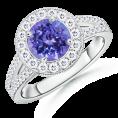 Angara Rings -  The Regal Ring Tanzanite Ring