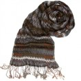 Creative Contrast Šalovi -  TOLANI Zig Zag Scarf in Brown/Grey as seen on Lindsay Lohan