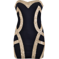 Yesenia  - Black Gold Dress - Dresses - $49.99