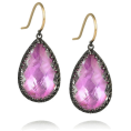 sandra24 - Purple Earrings - Earrings -