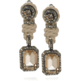 sandra24 - Beige Earrings - Kolczyki -
