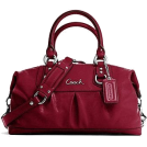 COACH Bag -  Authentic Coach Patent Leather Ashley Satchel Tote Bag 15455 Garnet Red