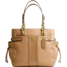 COACH Bag -  Coach Colette Leather Stripe North South Tote 16432