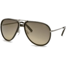 Tommy Hilfiger Occhiali da sole -  Aviator Sunglasses: Black-Silver/Gray-Light Brown Gradient