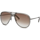 Tommy Hilfiger Occhiali da sole -  Aviator Sunglasses: Gray-Gunmetal/Brown Gradient