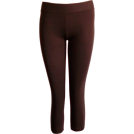 FineBrandShop Ghette -  Brown Capri Leggings Three Quarter Length