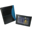 Buxton Wallets -  Buxton Executive Two-fold Weekender wallet with removable front pocket card case BlackBlue
