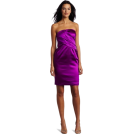 Donna Morgan ワンピース・ドレス -  Donna Morgan Women's Asymetrical Strapless Dress Hollyhock