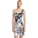 Donna Morgan ワンピース・ドレス -  Donna Morgan Women's Floral Stretch Satin Dress Currant