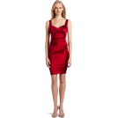Donna Morgan sukienki -  Donna Morgan Women's Sleeveless Solid Dress Cranberry