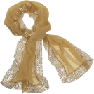 Echo Scarf -  Echo Evening Wrap w/ Sequins Gold