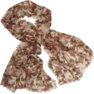 Echo Scarf -  Echo Oversized Fall Floral Wrap Rust