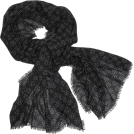 Echo Scarf -  Echo Polka Dot Wrap Black