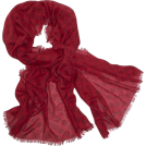 Echo Scarf -  Echo Polka Dot Wrap Laquer Red