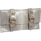Foley + Corinna Clutch bags -  Foley + Corinna Buckle Clutch Embossed Shell Snake