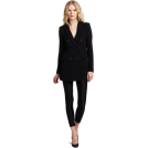 Halston Heritage Kurtka -  HALSTON HERITAGE Women's Double Breasted Jacket Black