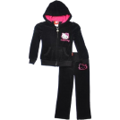 "Hello Kitty Track suits -  Hello Kitty ""Sequin Waffle"" Dress (Sizes 4 - 6X) Black"