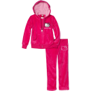 Hello Kitty Track suits -  Hello Kitty Girls 2-6x Velour Active Set with Mini Sequins Fuschia Purple