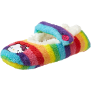 Hello Kitty Drugo -  Hello Kitty Girls 7-16 Rainbow Stripe Fuzzy Babba Slipper Socks Multi