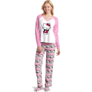 Hello Kitty Pigiame -  Hello Kitty Women's 3 Piece V-Neck Pajama Set with Slipper Light Pink