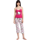 Hello Kitty Piżamy -  Hello Kitty Women's Hk Dreaming Of Love Two Piece Pajama Pant Set With Tank Top And Printed Pant Pink