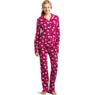 Hello Kitty Pigiame -  Hello Kitty Women's Print 2 Piece Notch Collar Top and Pant Pajama Set Pink