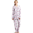 Hello Kitty Pigiame -  Hello Kitty Women's Print 2 Piece Notch Collar Top and Pant Pajama Set White
