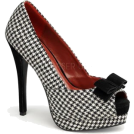Pin Up Couture Sandals -  Houndstooth Peep Toe High Heel Pump - 11