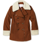 Jessica Simpson アウター -  Jessica Simpson Coats Girls 7-16 Asymmetrical Zipper Chestnut