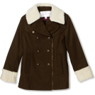 Jessica Simpson Kurtka -  Jessica Simpson Coats Girls 7-16 Asymmetrical Zipper Olive