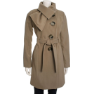Jessica Simpson Kurtka -  Jessica Simpson Women's Tie Neck Belted Coat Mushroom