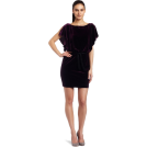 Jessica Simpson sukienki -  Jessica Simpson Womens Stretch Velvet Batwing Dress Aubergine