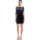 Jessica Simpson sukienki -  Jessica Simpson Womens Stretch Velvet Batwing Dress Charcoal