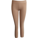 FineBrandShop Leggings -  Khaki Beige Capri Leggings Three Quarter Length