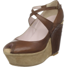 Kooba Sandals -  Kooba Women's Hope Wedge Pump Luggage