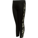 FineBrandShop Ghette -  Ladies Black Leggings Sheer Floral Designed Sides