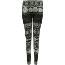 FineBrandShop Ghette -  Ladies Grey Winter Pattern Leggings
