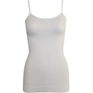 FineBrandShop Tuniche -  Ladies White SeamlessTunic Cami 25 Inch